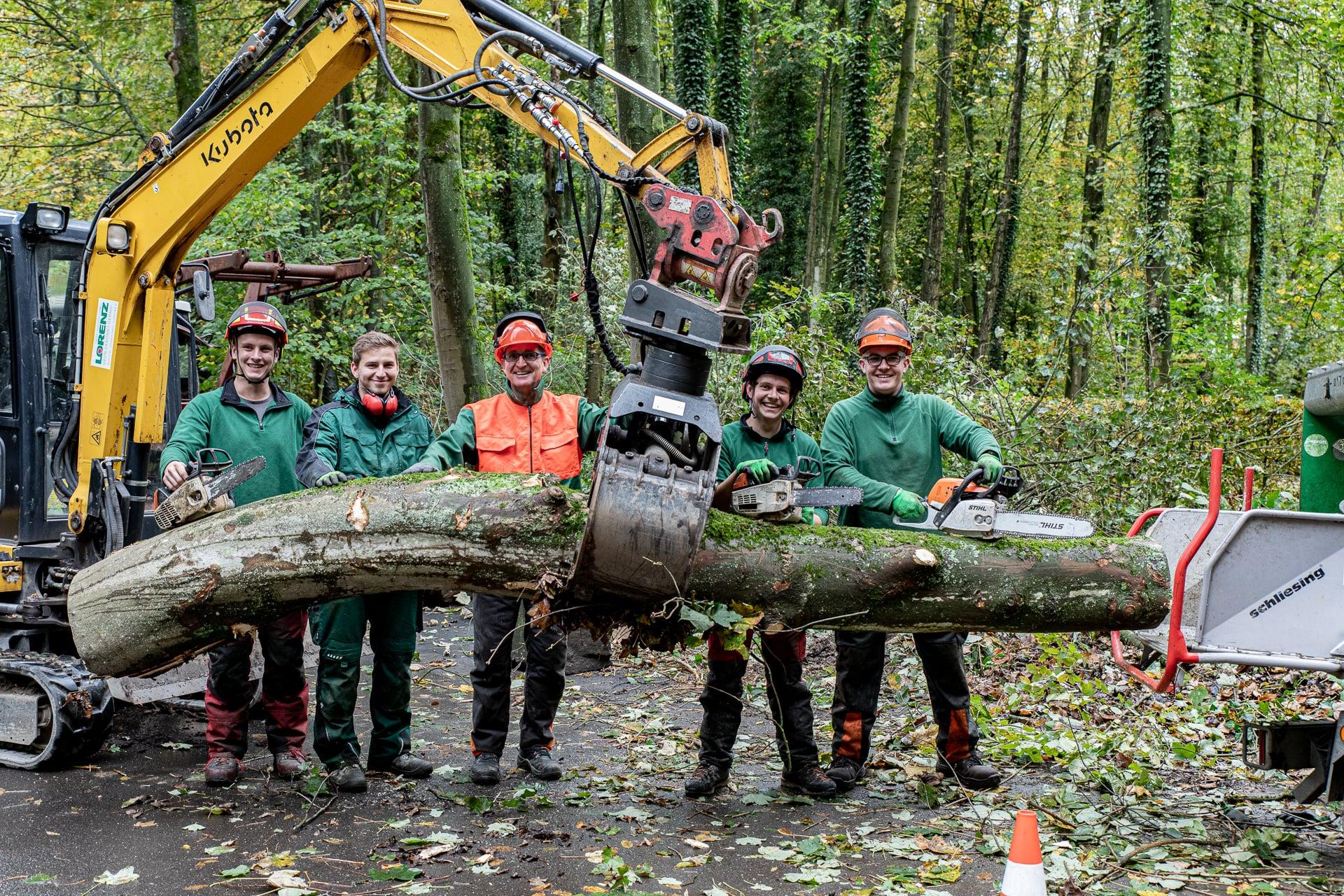 Lorenz Landschaftsbau Baumpflege Team